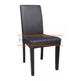 Jídelní židle PM masiv imitace kůže hnědá