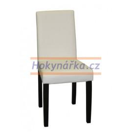 Jídelní židle PM masiv imitace kůže bílá tmavá