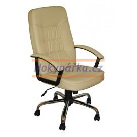 Kancelářská židle MG houpací imitace kůže béžová