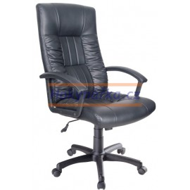 Kancelářská židle SNT houpací imitace kůže černá