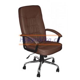 Kancelářská židle MGM houpací imitace kůže hnědá