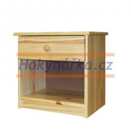Komoda noční stolek dřevěná lakovaná masiv borovice