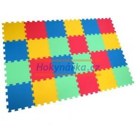 Pěnový koberec puzzle UNI-FORM 24 mix barev 8mm 30x30