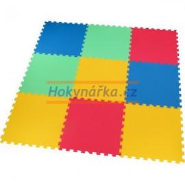 Pěnový koberec puzzle MID-FORM 9 mix barev 16mm 58x58