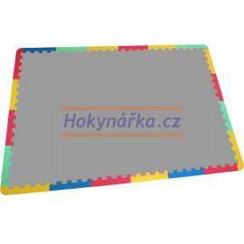 Pěnový koberec puzzle zakončovací díly UNI 24 mix barev 8mm