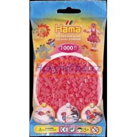 Hama zažehlovací Neonové červené korálky 1000ks MIDI