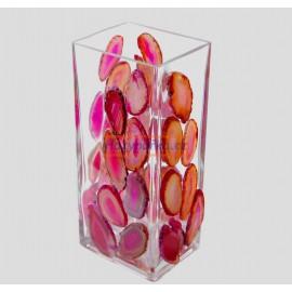 Váza obdélníková mozaika acháty 7