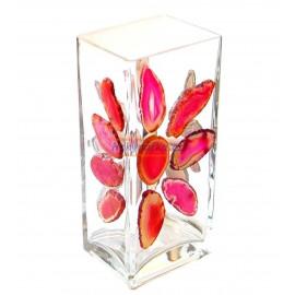 Váza obdélníková mozaika acháty 8