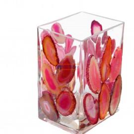 Váza obdélníková nízká mozaika acháty 9