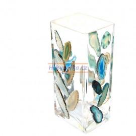 Váza obdélníková mozaika acháty 17