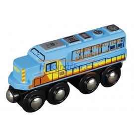 Maxim dřevěná mašinka nákladní lokomotiva