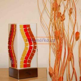 Stolní lampička s mozaikou vlna