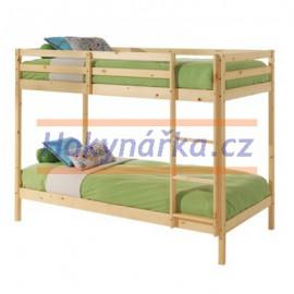 Palanda postel 143 dřevěná lak masiv smrk