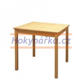 Jídelní stůl 75 dřevěný lakovaný masiv borovice