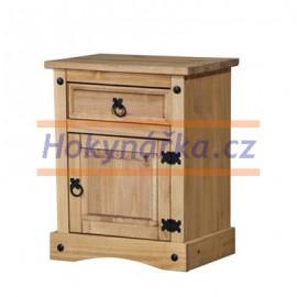 Komoda noční stolek Corona vosk masiv borovice