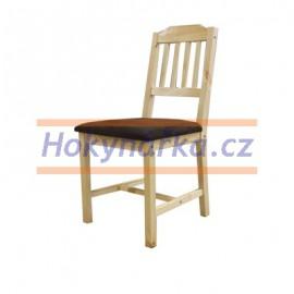 Jídelní židle polstrovaná lak masiv borovice