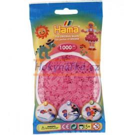 Hama zažehlovací průhledné růžové korálky 1000ks MIDI