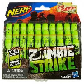 NERF Náhradní šipky 30ks Zombie strike HASBRO