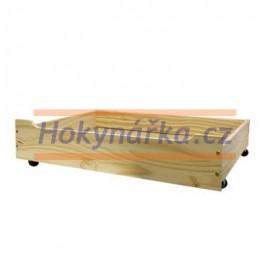 Úložný prostor šuplík pod postel masiv borovice lak