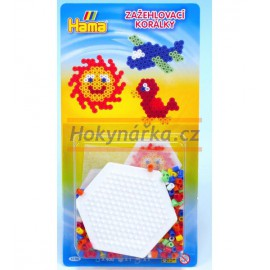 Hama set šestiúhelník zažehlovací korálky MIDI
