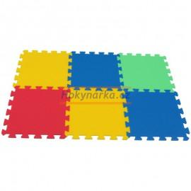 Pěnový koberec MAXI 6 mix 4 barev 8mm