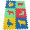 Pěnový koberec MAXI 6 zvířata 3 mix 4 barev 8mm