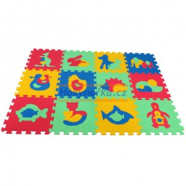 Pěnový koberec MAXI 12 zvířata mix 4 barev 8mm