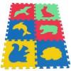 Pěnový koberec MAXI 6 zvířata 4 mix 4 barev 8mm