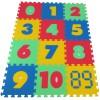 Pěnový koberec MAXI 12 čísla mix 6 barev 8mm