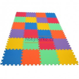 Pěnový koberec MAXI 24 pevný 16mm mix 6 barev