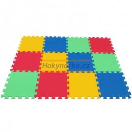 Pěnový koberec MAXI 12 pevný 16mm mix 4 barev