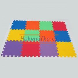 Pěnový koberec MAXI 12 pevný 16mm mix 6 barev