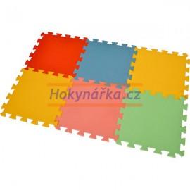 Pěnový koberec puzzle MAXI 6 mix barev 8mm