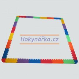 Pěnový koberec zakončení okraje XL9  mix 4 barev 16mm pevný
