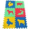 Pěnový koberec MAXI 6 zvířata 3 mix 4 barev 16mm pevný