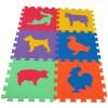 Pěnový koberec MAXI 6 zvířata 3 mix 6 barev 16mm pevný
