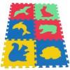 Pěnový koberec MAXI 6 zvířata 4 mix 4 barev 16mm pevný