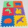 Pěnový koberec MAXI 6 zvířata 4 mix 6 barev 16mm pevný