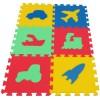 Pěnový koberec MAXI 6 dopravní prostředky mix 4 barev 16mm pevný