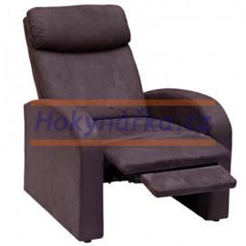 Relaxační polohovací křeslo TOLEDO hnědé mikrovlákno