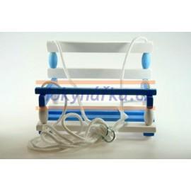 Dětská Houpačka dřevěná modro-bílá