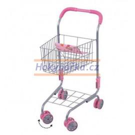 Dětský nákupní vozík kovový košík