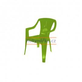 Dětská židle plastová zelená