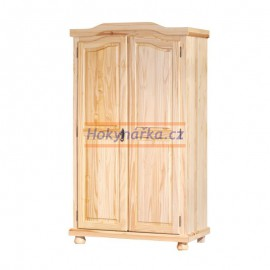Šatní skříň Genf 2 dveře lak masiv borovice