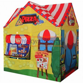 Dětský stan domeček pizza látkový