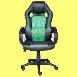 Kancelářská židle FORMULA houpací černo-zelená