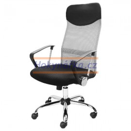 Kancelářská židle President houpací stříbrná