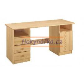 PC psací stůl 144 dřevěný lak masiv borovice