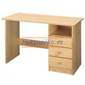 PC psací stůl malý dřevěný lak masiv borovice