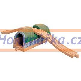 Maxim dřevěná mašinka Tunel s nadjezdem